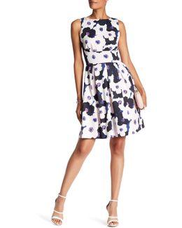 Back Cutout Print Dress