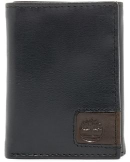 Cloudy Logo Leather Trifold Wallet