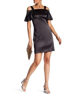 Cold Shoulder Solid Dress