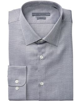 Patterned Slim Fit Dress Shirt