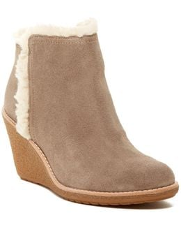 Michelle Faux Fur Lined Wedge Bootie