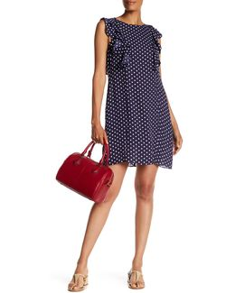 Sleeveless Ruffle Polka Dot Shift Dress