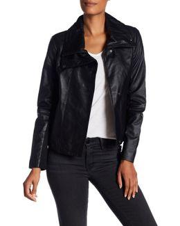 Hi-lo Leather Jacket