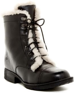 Retta Shearling Lined Lace Up Booties