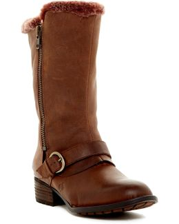 Goji Genuine Shearling Lined Moto Boot