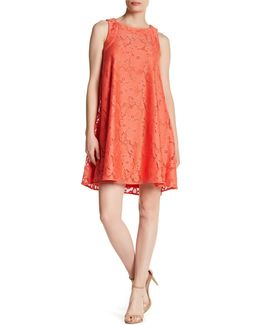 Sleeveless Tent Lace Dress