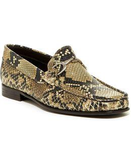 Darrin Snake Embossed Bit Loafer