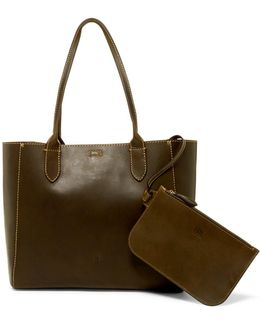 Casey Leather Tote & Pouch