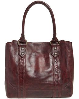 Melissa Leather Tote - Burgundy