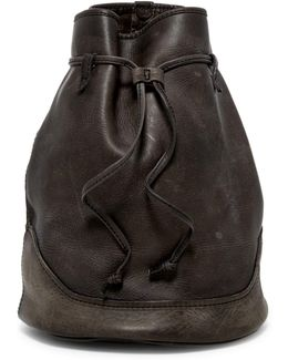 Cara Leather Bucket Bag