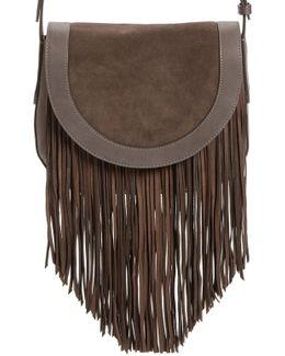 'ray' Fringe Leather Saddle Bag