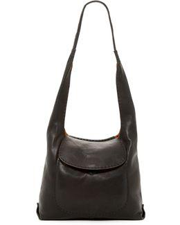 Naomi Leather Pickstitch Hobo