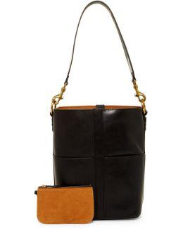 Ilana Leather Bucket Hobo Bag
