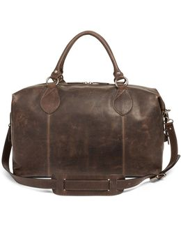 'logan' Leather Overnight Bag