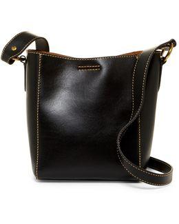 Harness Leather Bucket Crossbody Bag