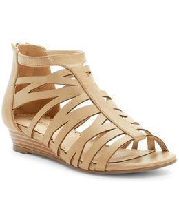 Desert Rose Wedge Sandal