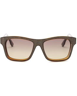 Women's Square Injected Frame Sunglasses