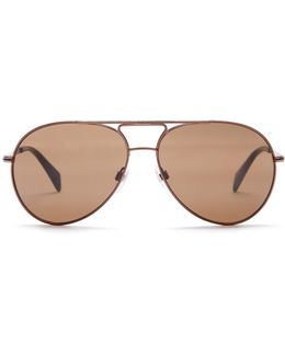 Unisex Metal Aviator Sunglasses
