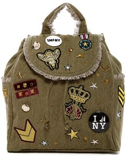 Wilson Patched Canvas Backpack
