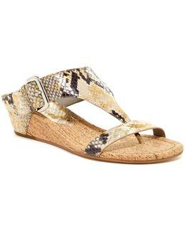 Doli Wedge T-strap Sandal