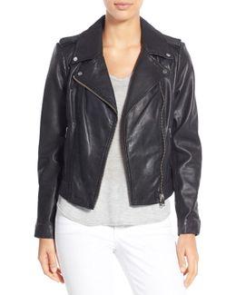 Donna Genuine Leather Biker Jacket