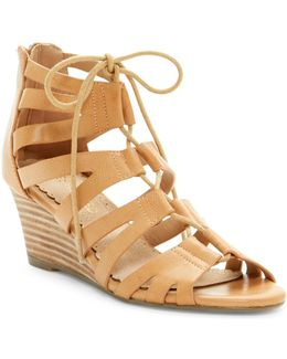 Downey Lace-up Wedge Sandal