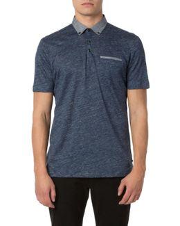 Shaped Fit Check Jacquard Sport Shirt