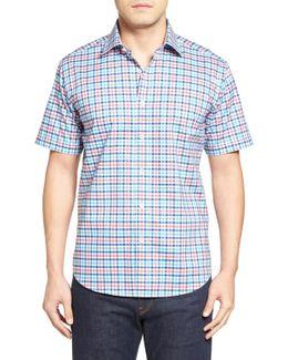Shaped Fit Check Short Sleeve Sport Shirt