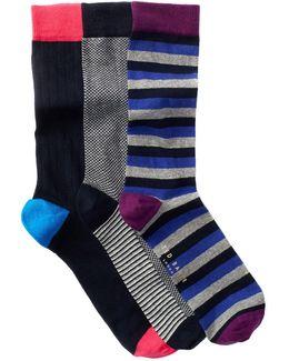 Marz Crew Socks - Pack Of 3