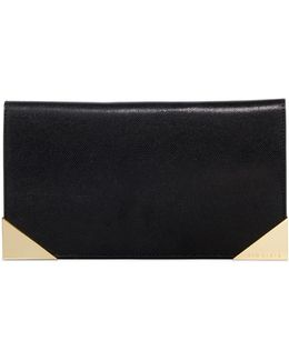 Curt Metal Corner Leather Travel Wallet