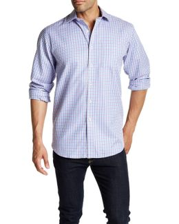 Textured Long Sleeve Classic Fit Shirt