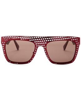 Women's Grace Square Fashion Metal Frame Sunglasses