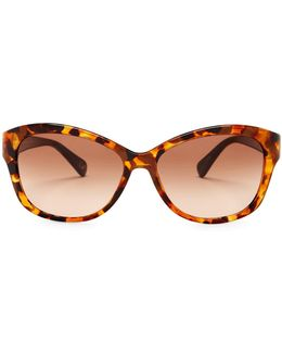 Women's Ashley Cat Eye Plastic Frame Sunglasses