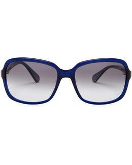 Women's Kristen Oversized Plastic Frame Sunglasses