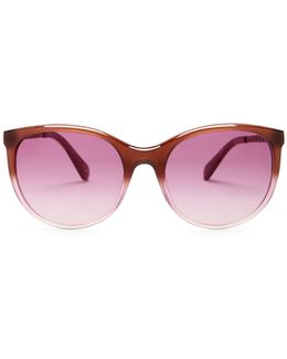 Women's Demi Cat Eye Plastic Frame Sunglasses