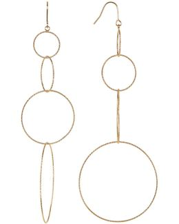 Textured Multi Hoop Drop Earrings