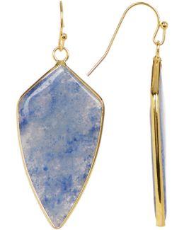 Blue Short Arrow Drop Earrings
