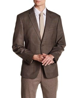 Brown Glenplaid Two Button Notch Lapel Jacket