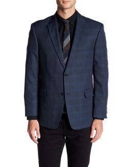 Ethan Blue Plaid Two Button Notch Lapel Jacket