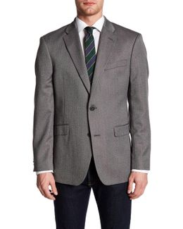 Ethan Herringbone Two Button Notch Lapel Suit Separates Jacket