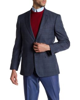 Ethan Blue Glenplaid Two Button Notch Lapel Jacket