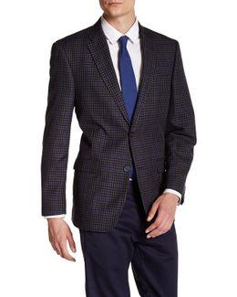 Ethan Grey Windowpane Two Button Notch Lapel Suit Separates Jacket