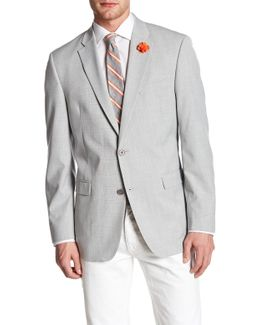 Ethan Grey Plaid Woven Two Button Notch Lapel Sportcoat