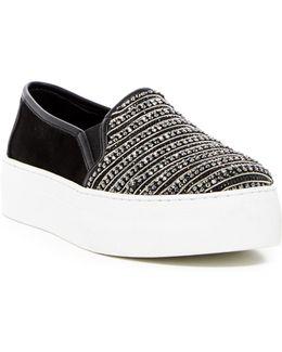 Stella Rhinestone Platform Slip-on Sneaker