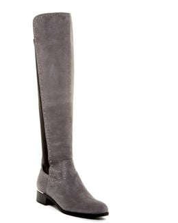 Cynthia Studded Riding Boot - Wide Calf