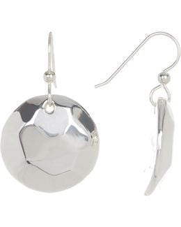 Sterling Silver Faceted Round Drop Earrings