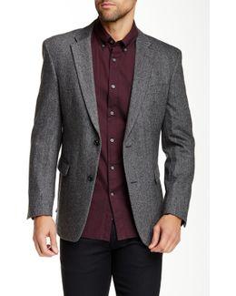 Ethan Two Button Notch Lapel Herringbone Sportcoat