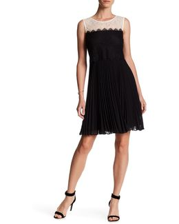 Astrid Pleated Lace Dress
