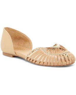 Nickel Woven D'orsay Sandal