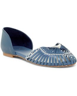 Nickle Leather Flats